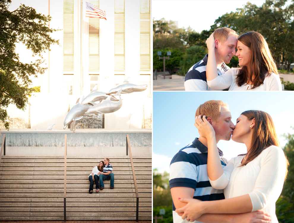 Pictures taken in front of the Tallahassee capitol building
