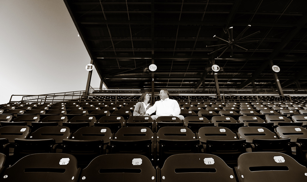 Sitting alone in the bleachers at Dick Howser Stadium