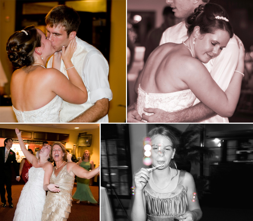 Collage of guests dancing