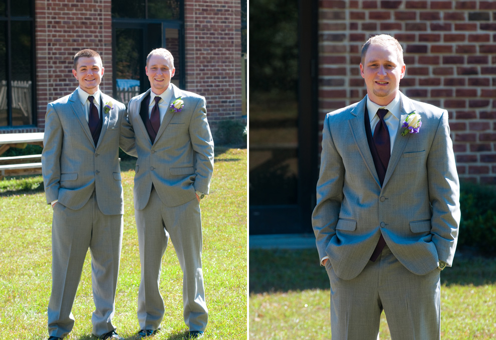 Groom and his brother-in-law posing; groom portrait