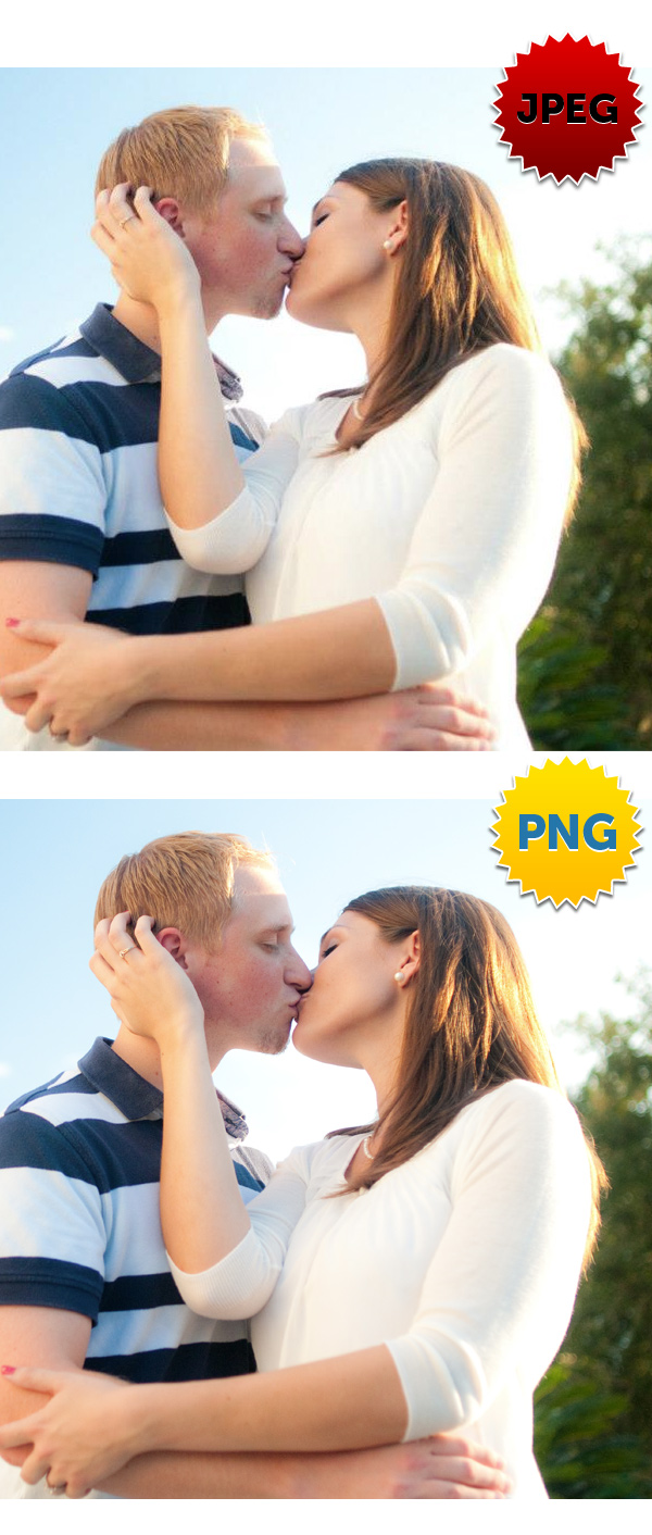 Facebook business page photo quality - JPEG vs. PNG