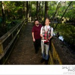 Wide shot of Marc and Greg on the boardwalk in Gainesville